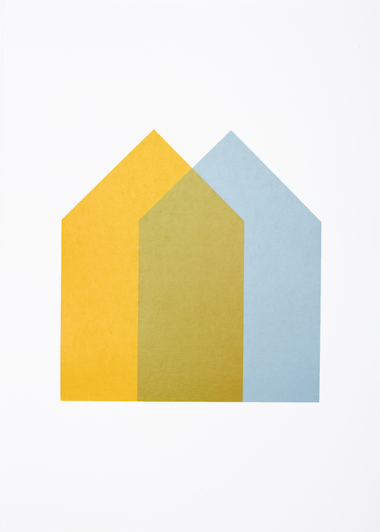 Two Houses - Yellow and Blue