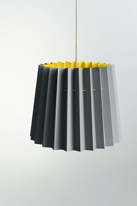 Twin Tone Lampshade - Smoke Grey and Factory Yellow