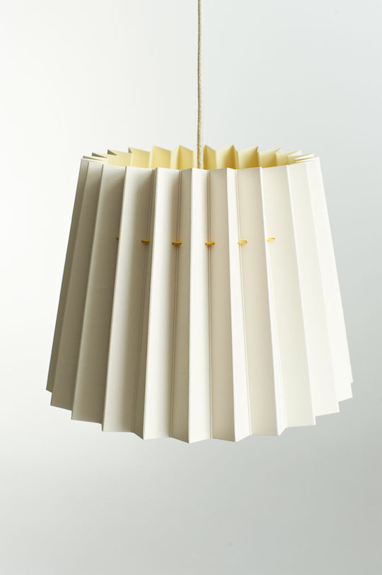 Twin Tone Lampshade - Pale Grey and China White