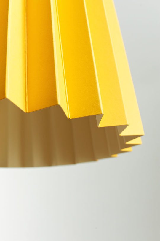 Twin Tone Lampshade - Warm Yellow