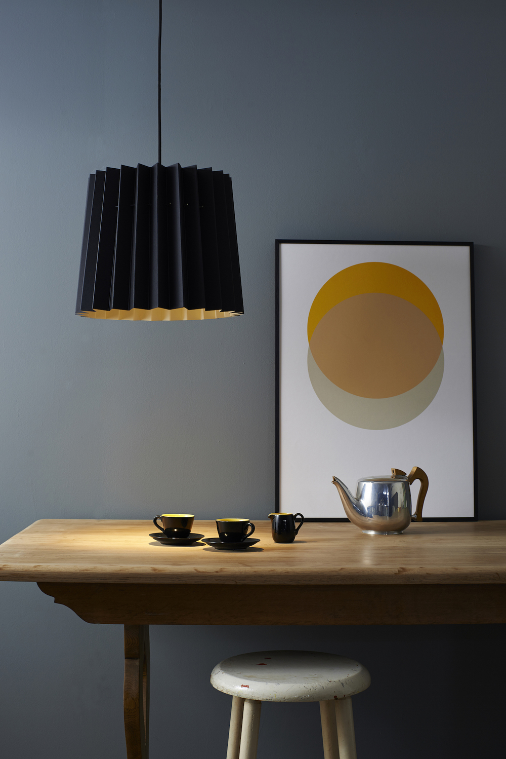 Black and China White Lampshade and Circles Yellow and Grey SFW 150.jpg