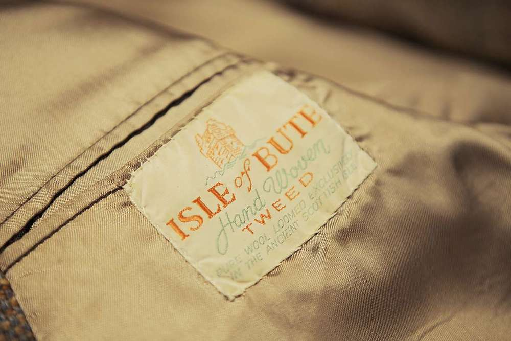 Original tweed label at Bute Fabrics. Image courtesy of  Make   Works .