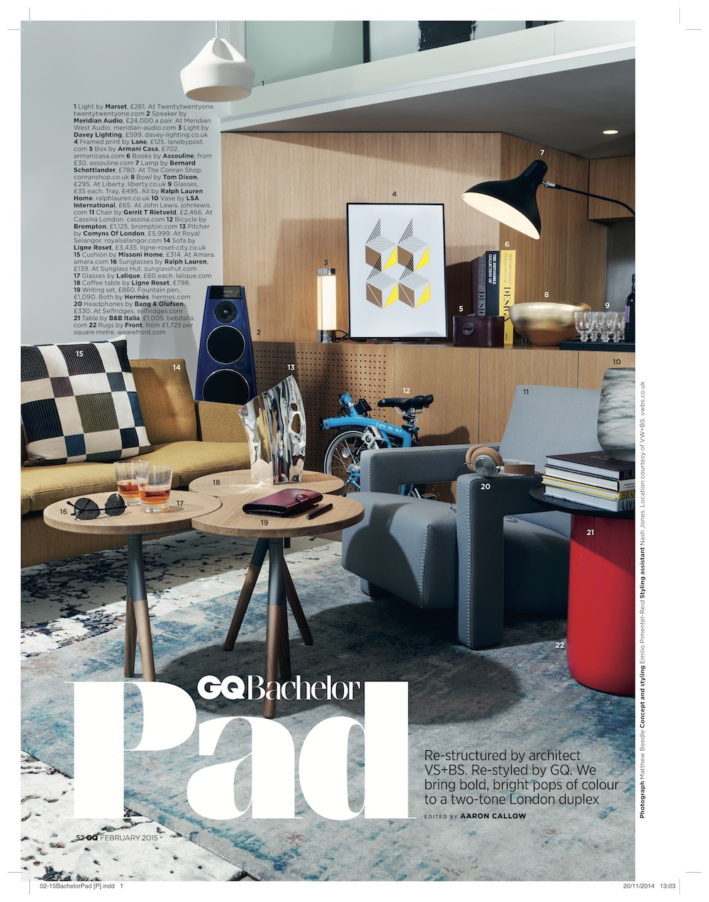 GQ, January 2015,  From Land & Sea screen print
