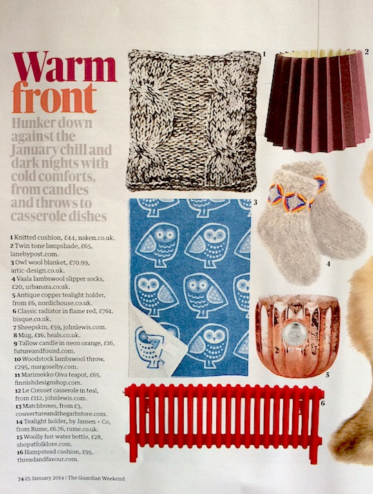 Guardian Weekend, November 2014, Twin Tone Lampshade - Burgundy