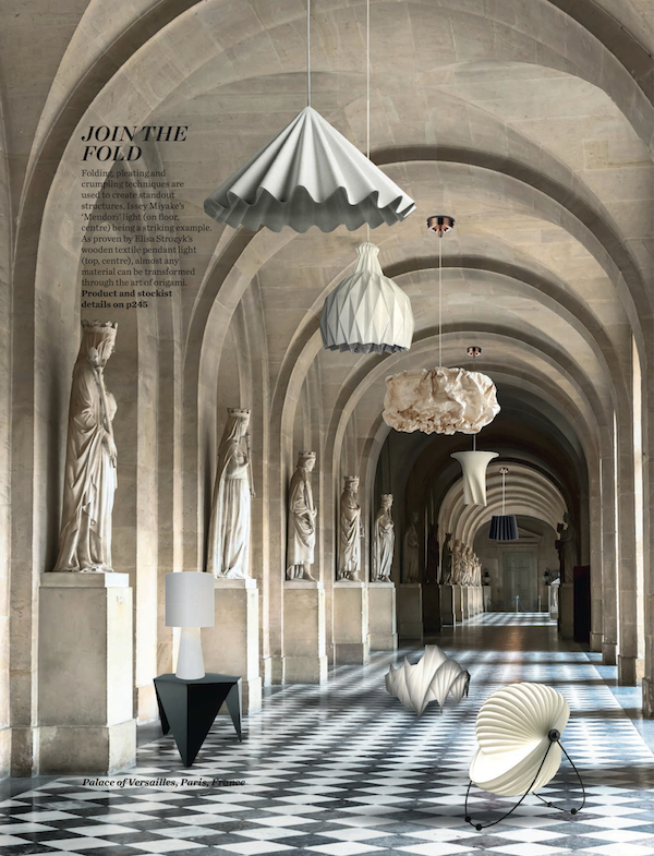 Elle Decoration, October 2014, Lane Twin Tone Lampshade - Black & China White