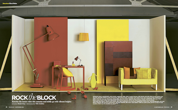 You Magazine, September 2014, Twin Tone Lampshade - Warm Yellow & China White