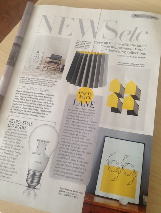 Real Homes, June 2014, Lane homeware collection