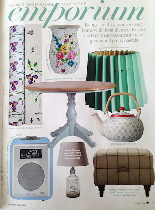 Country Living, March 2014,  Lane Twin Tone Lampshade - Mint