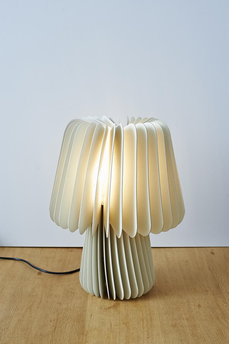 Beam Table Lamp Pale Grey China White Lane
