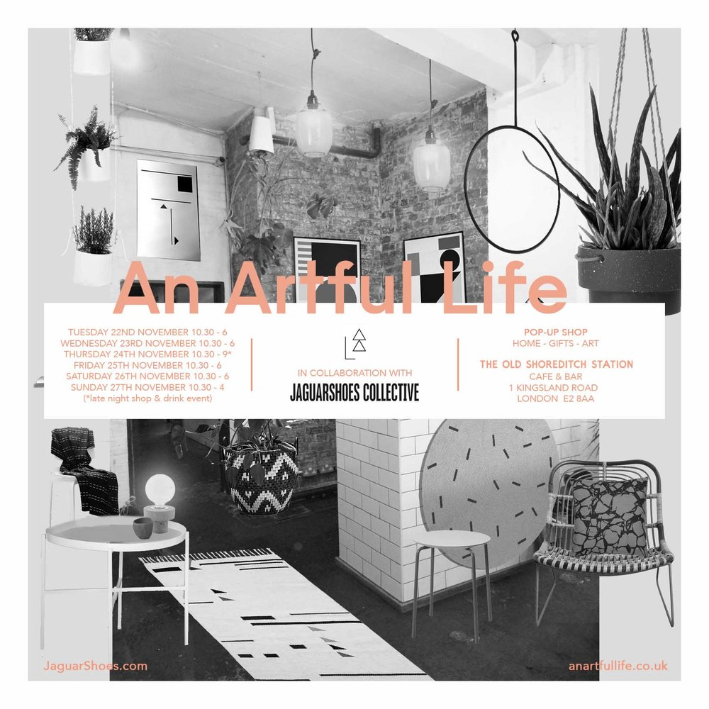 An Artful Life homeware pop up at The Old Shoreditch Station