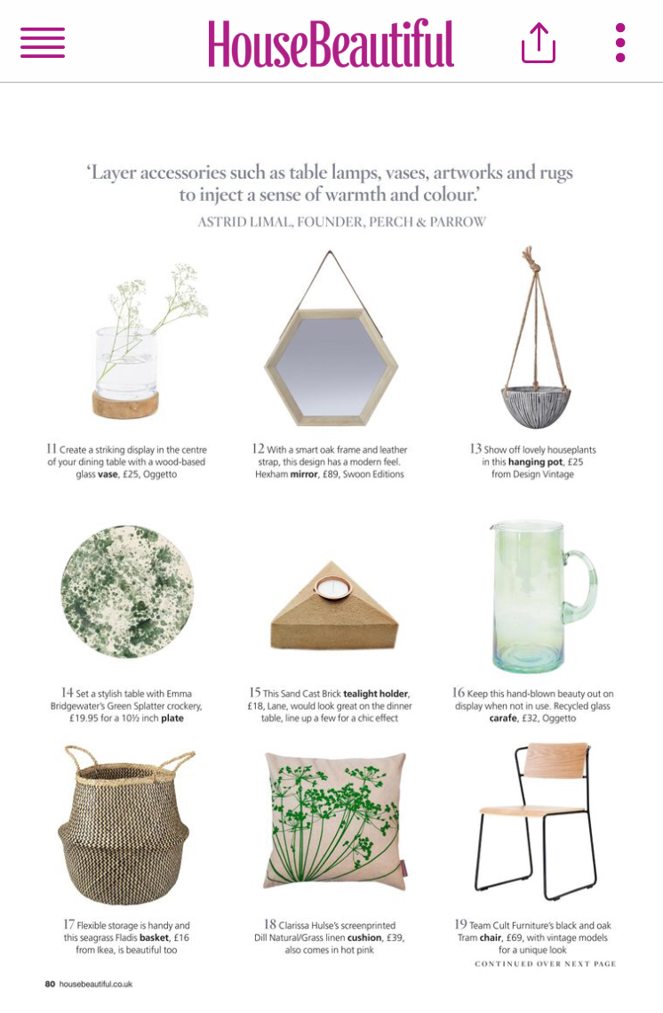 House Beautiful - 30 Stylish Buys Under £100, February 2017, Lane   Sand Cast Brick Tea Light Holders