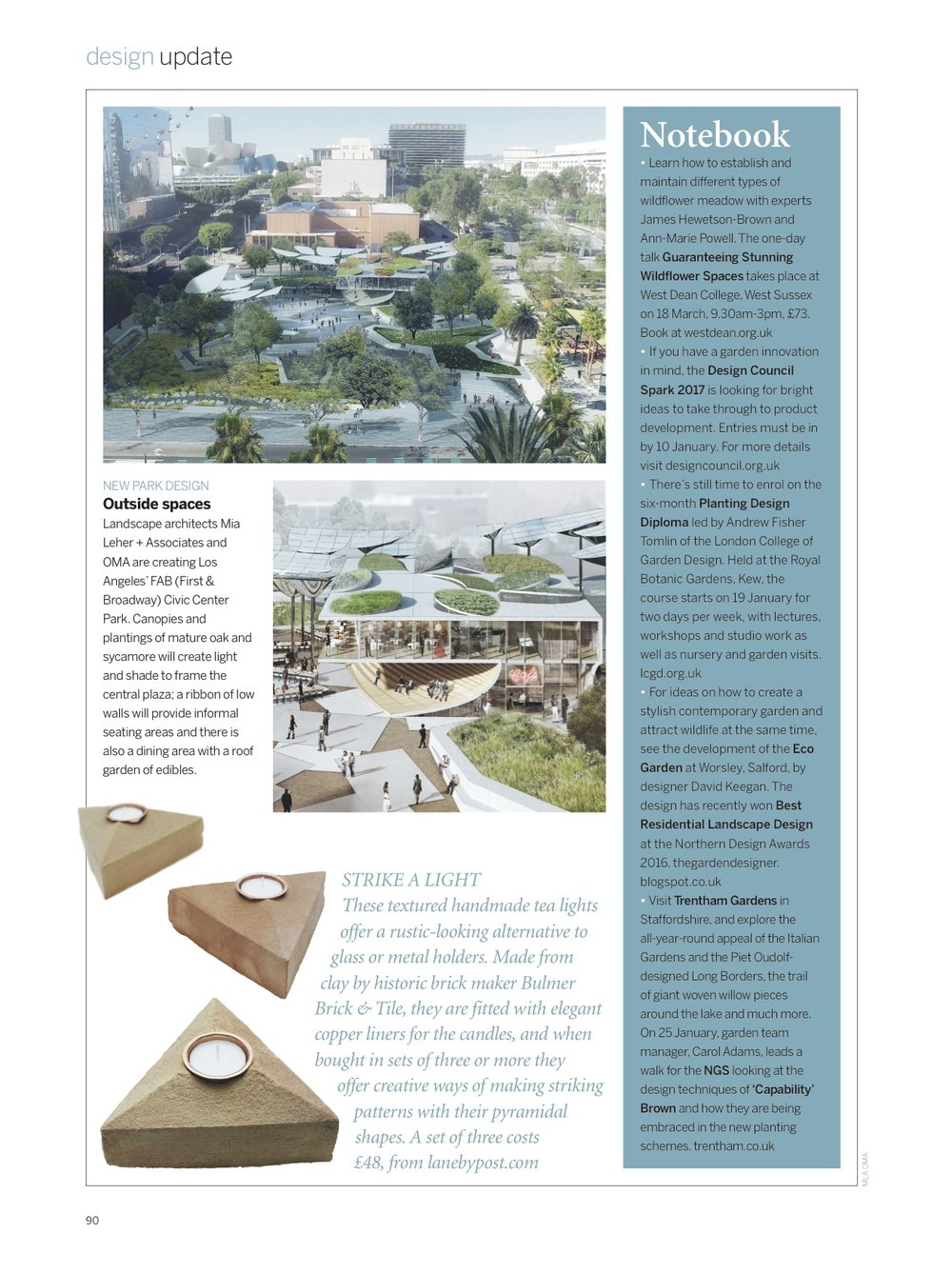 Gardens Illustrated - Design Update, February 2017, Lane   Sand Cast Brick Tea Light Holders