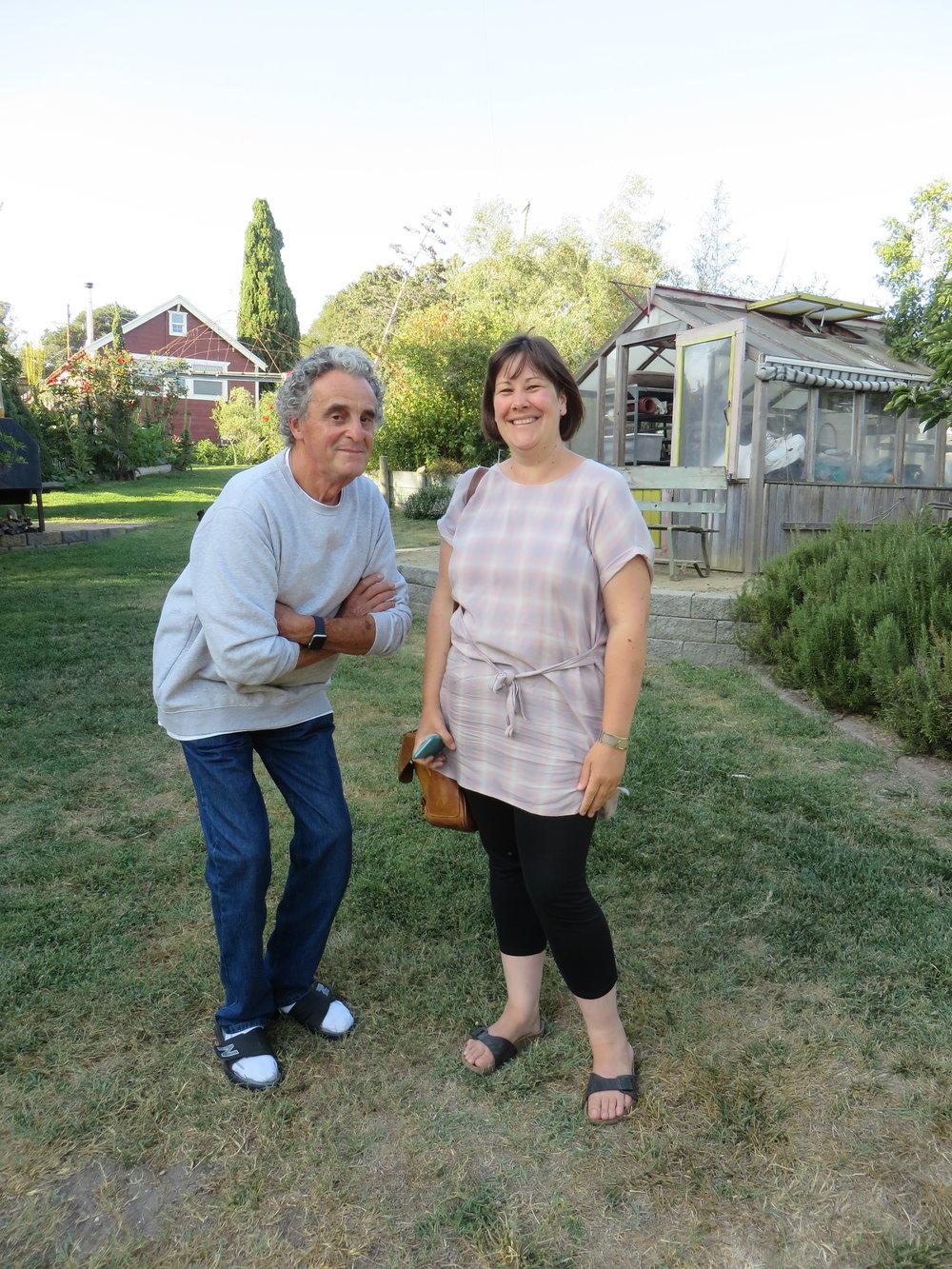 Edmund and Kim at the Della Fattoria ranch