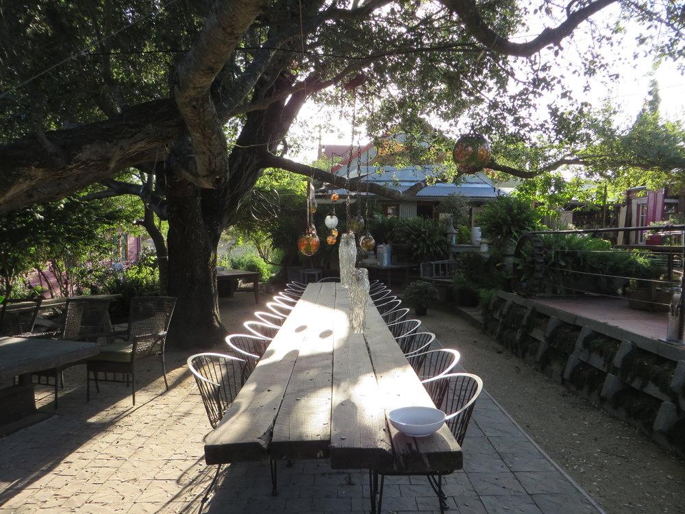 The setting for Della Fattoria's famous ranch dinners.