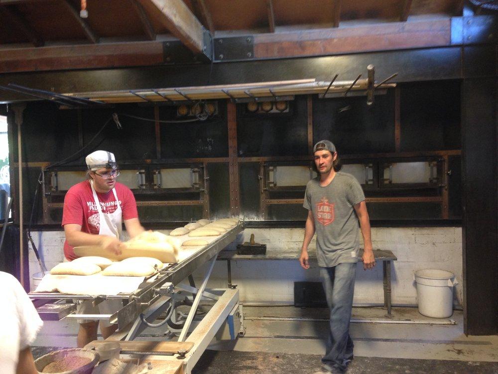 Inside the Della Fattoria sourdough bakery