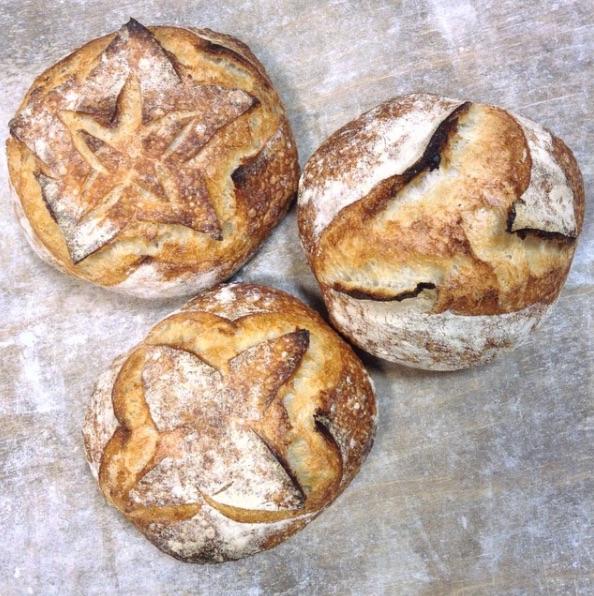 Sourdough bread from @dellafattoria's Instagram