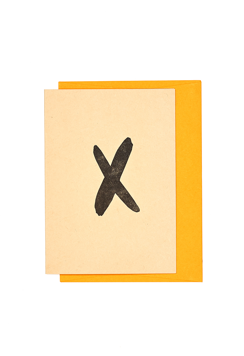 LANE LETTERPRESS ALPHABET CARDS - X — Lane
