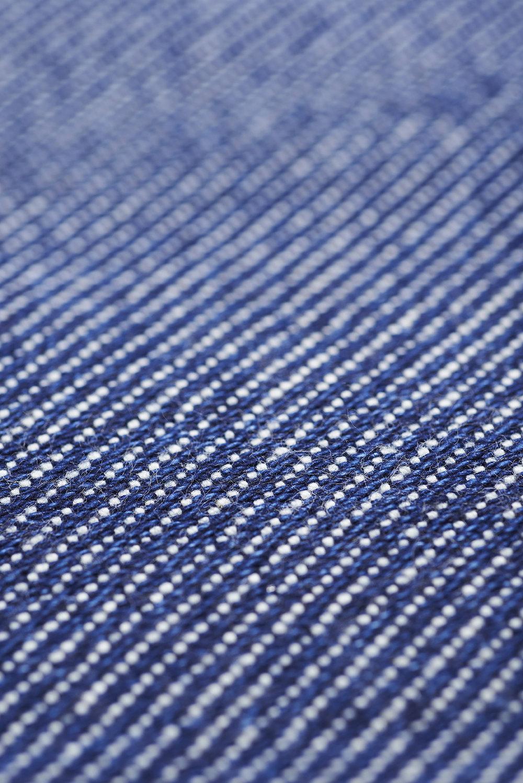 lane x london cloth indigo cotton wash bag flat pouch lane