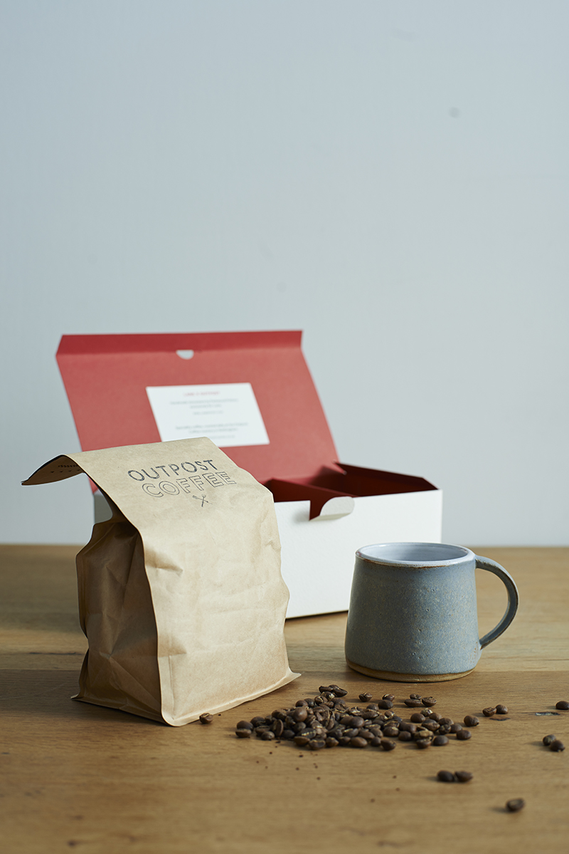 Lane x Outpost Coffee - Stoneware Mug and Speciality Coffee Gift Box Detail Blue.jpg