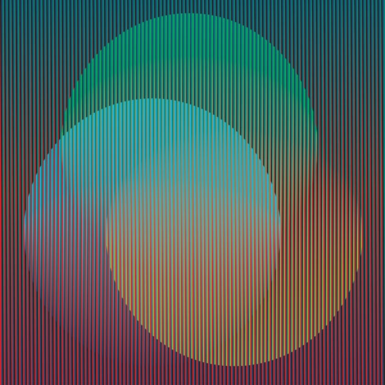 "Color Aditivo Pacífico A.Panama, 2010. 120 x 120 cm (47 1/4 x 47 1/4"").Carlos Cruz-Diez.Credit to ©  Atelier Cruz-Diez Paris ."