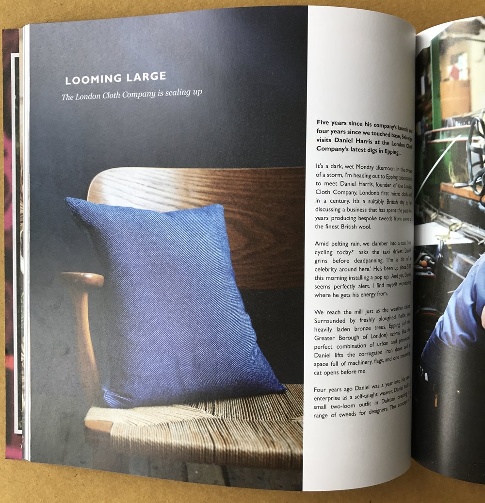 Selvedge Magazine, Lane x London Cloth Collection, September 2017