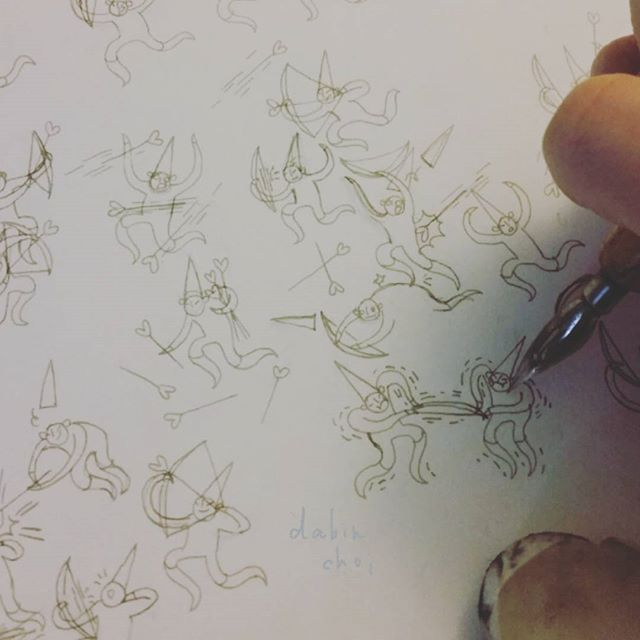 030417 saturday:  late night scratching ✒✒✒ on to the next book idea! ©dabinchoi  #dabinchoi #squirrelwitch #themischievous #zine #illustration #doodle  #handmade #artistsoninstagram #book #drawing #etsy #bookstagram #zines #animation  #trailer #illustrator #etsyseller #wip #drawings
