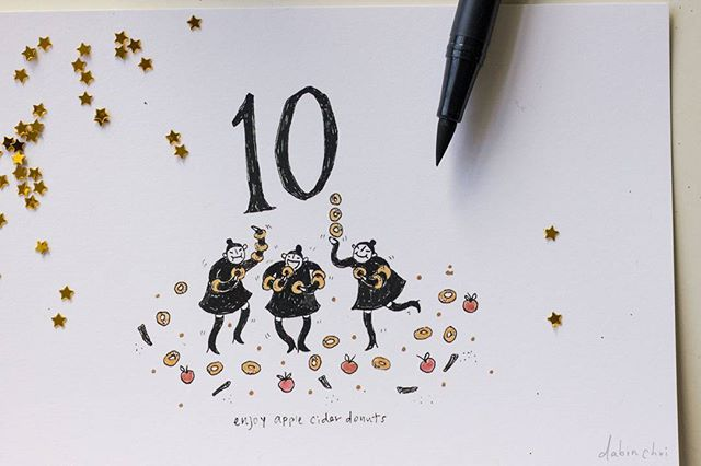 day 10: 🍎 ©dabinchoi  #squirrelwitch #inktober #zine #themischievous #31daysofwitches #storytelling #appleciderdonuts
