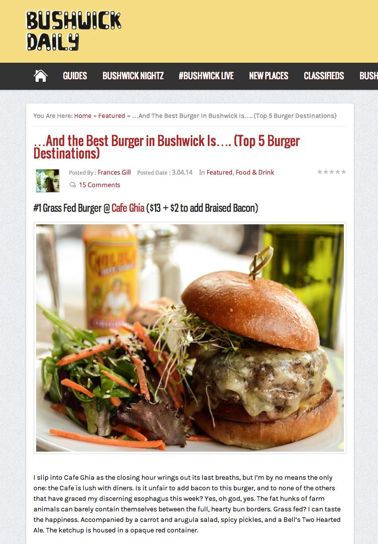 BushwickDaily: Best Burger inBushwick   March 4, 2014