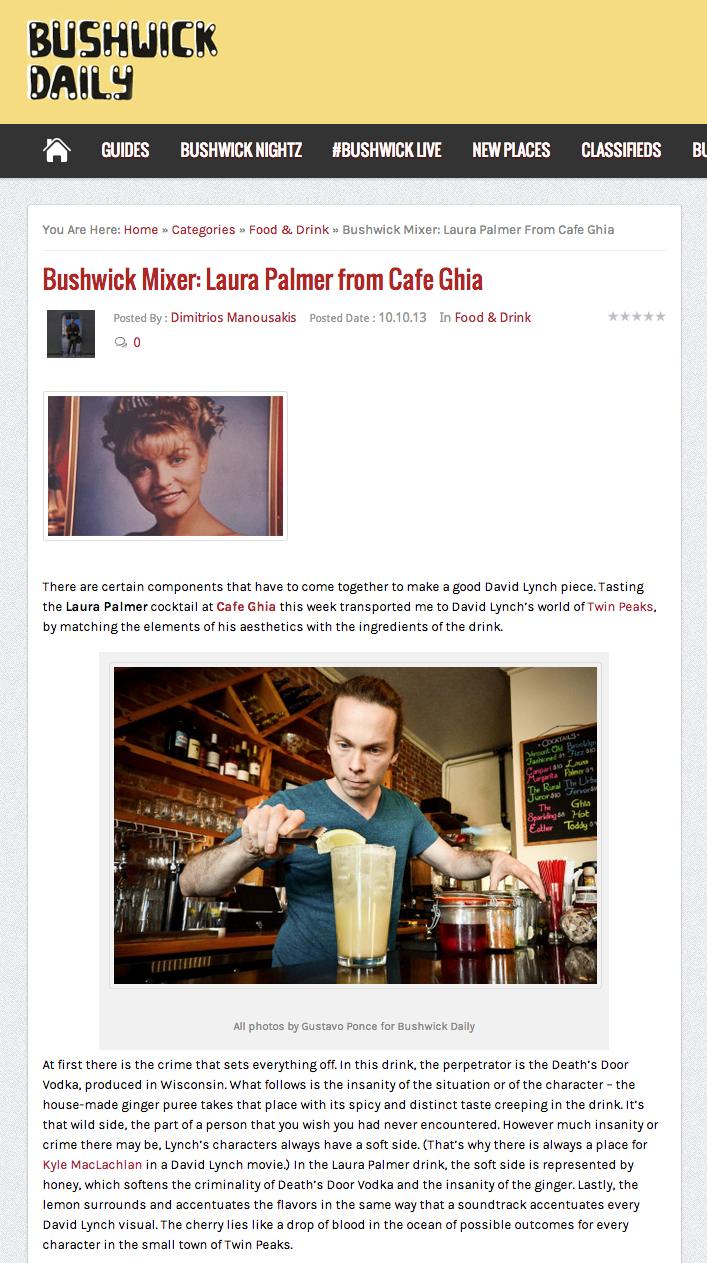 Bushwick Mixer: Laura Palmer from Cafe Ghia   October 10, 2014