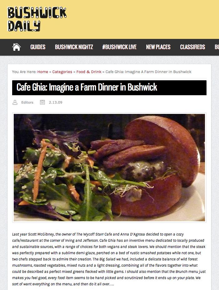 Bushwick Daily: Farm Dinner inBushwick   2011