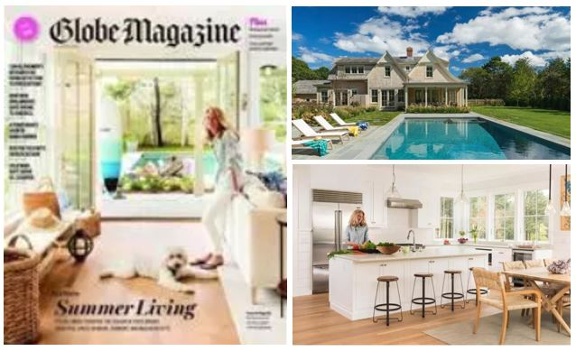 Boston Globe Magazine cover story,  Building a Getaway All Their Own  by Marni Elyse Katz