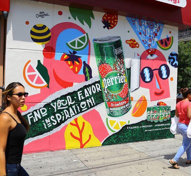 Throwing it back to last summer w/ Perrier @perrier #handpainted #mural #perrier #tbt