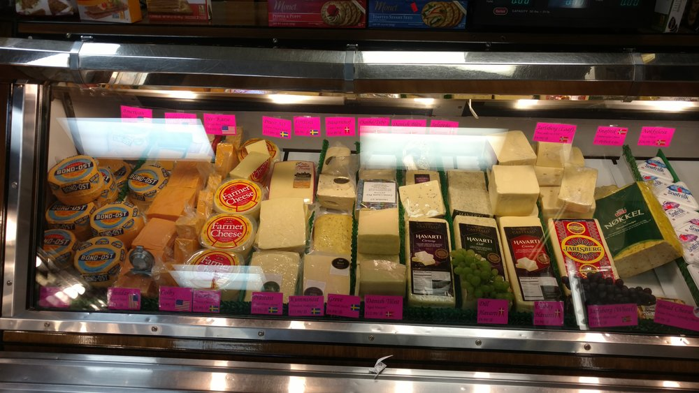 The cheese section