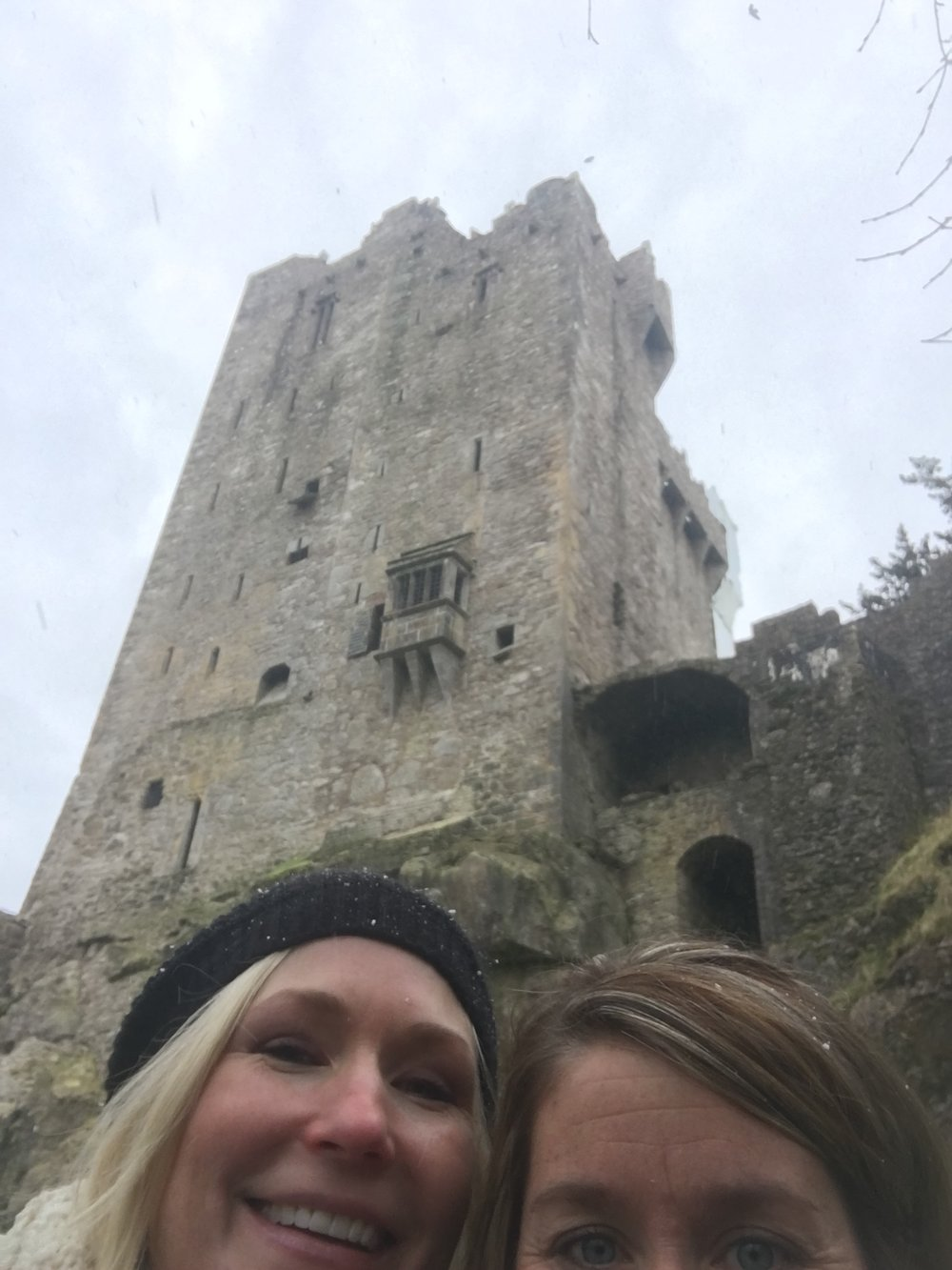 Murphy and me at Blarney Castle