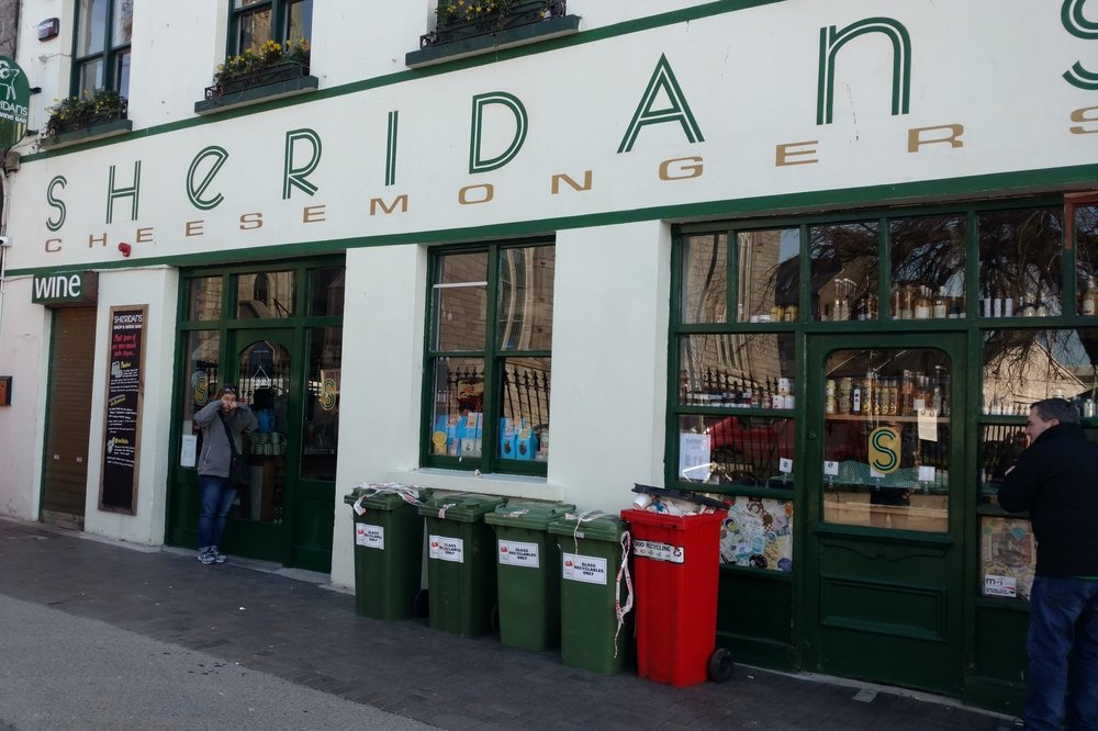 Shedding tears at Sheridan's (closed for the bank holiday), Galway