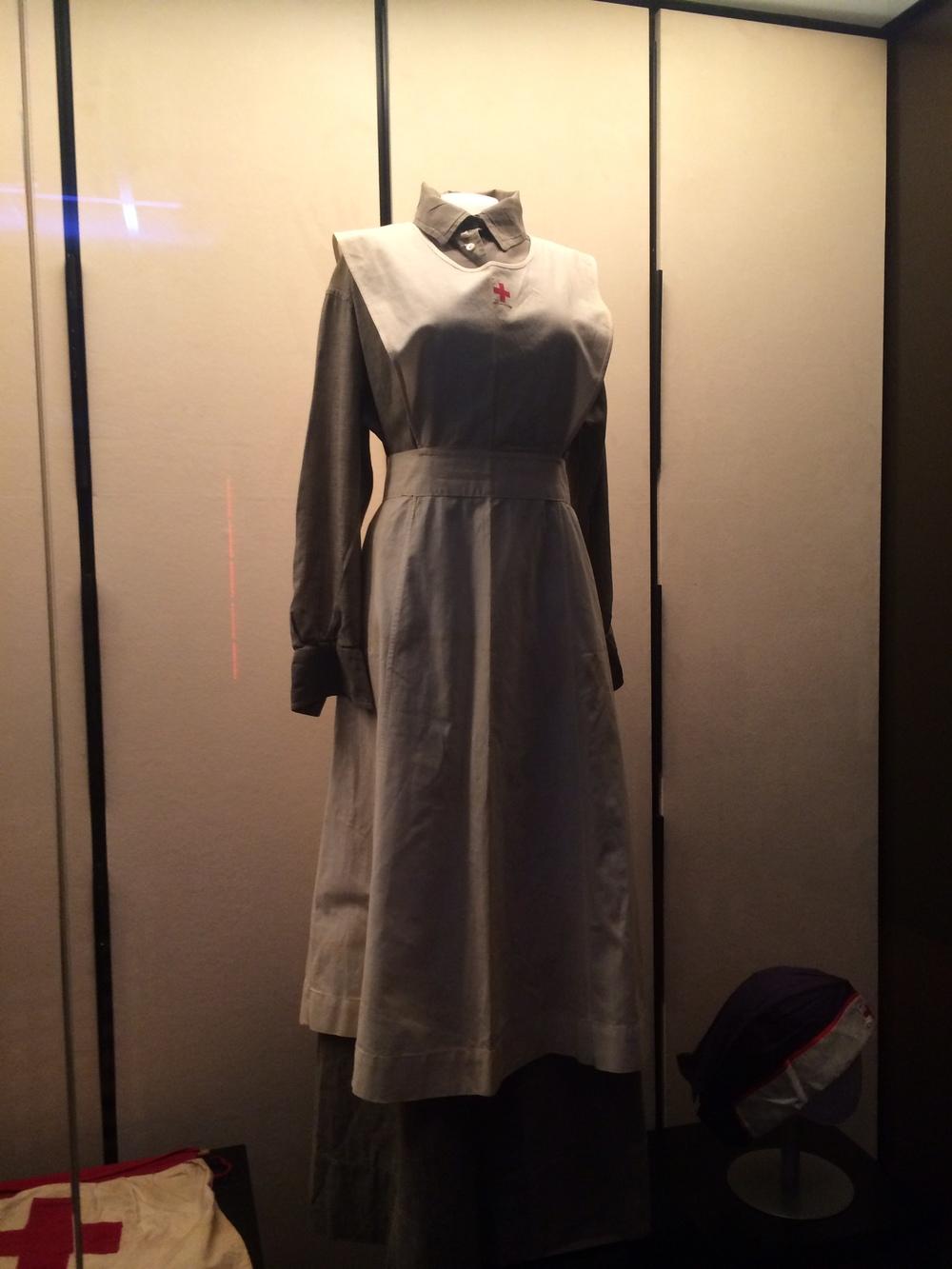 World War I Red Cross nurse's uniform taken at the National World War I Museum in Kansas City