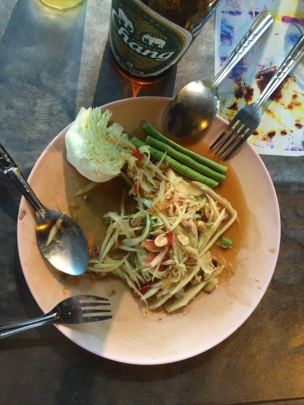 Mango salad in Bangkok.