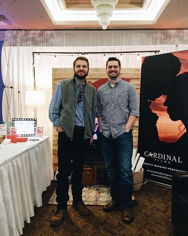 First bridal show: ✅  Had a good time today as our company @cardinal.films got to meet a lot of great people and tell them about our work! #modernbridesbridalshowhsv #cardinalfilms