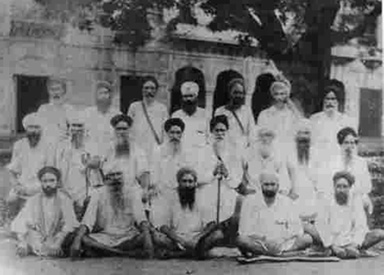 Photo of prominent  Ghadars  taken in 1936 after their release from prison