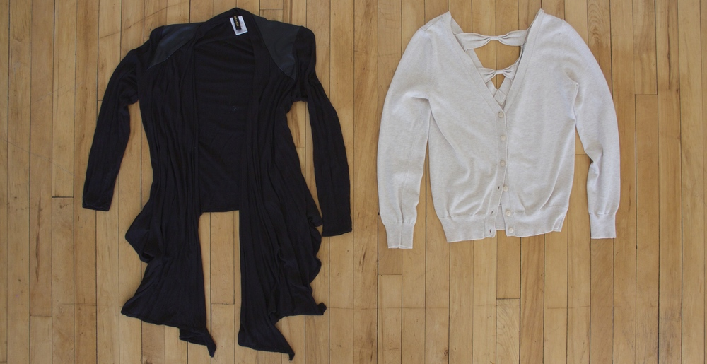 Black wrap: Thrifted   Cream sweater: Thrifted
