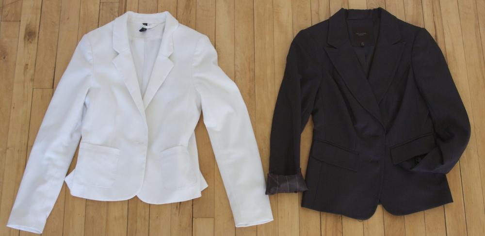 Brown Blazer: Thrifted  White Blazer: H&M- old purchase