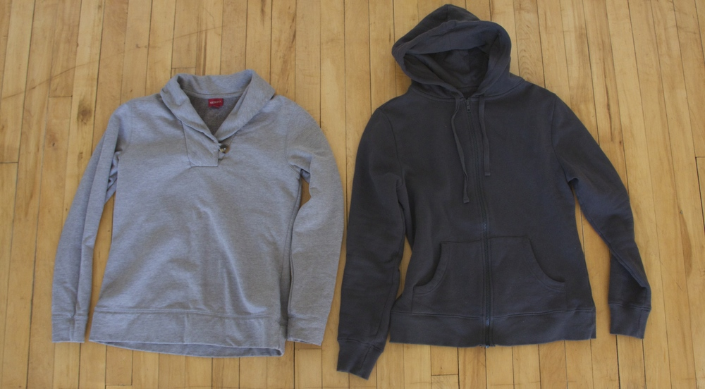 Hoodie:  Pact Apparel    Pullover: Target- old purchase