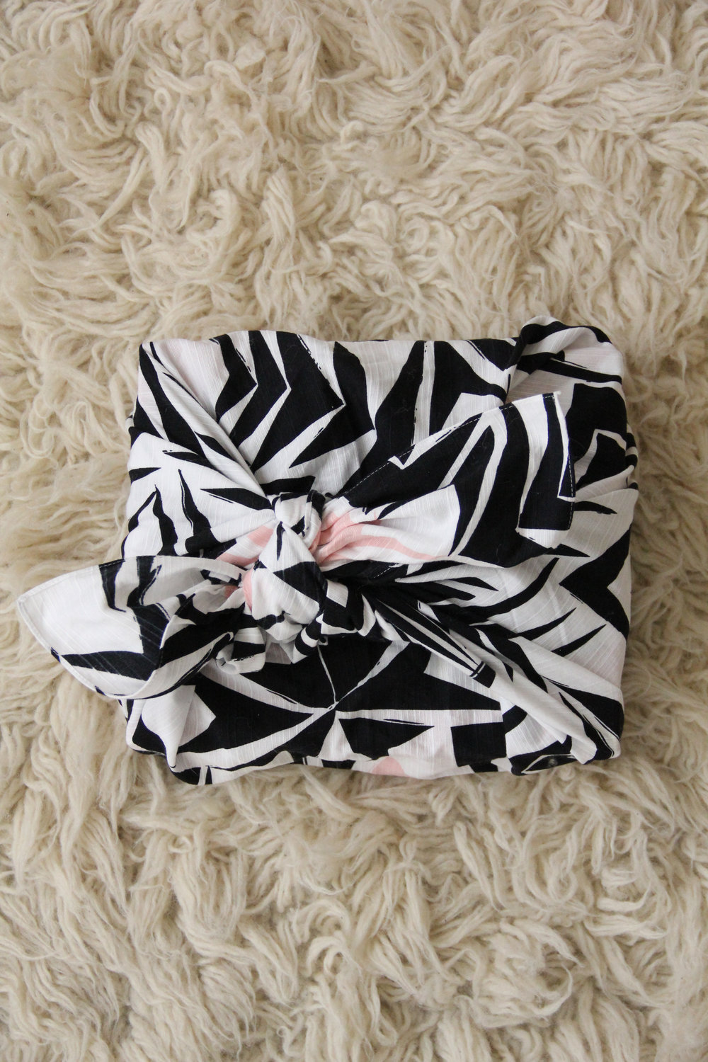 My furoshiki wrapping a gift
