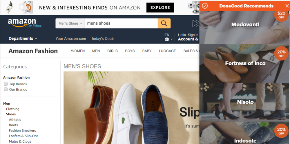 Amazon search, mens shoes, multiple options.PNG