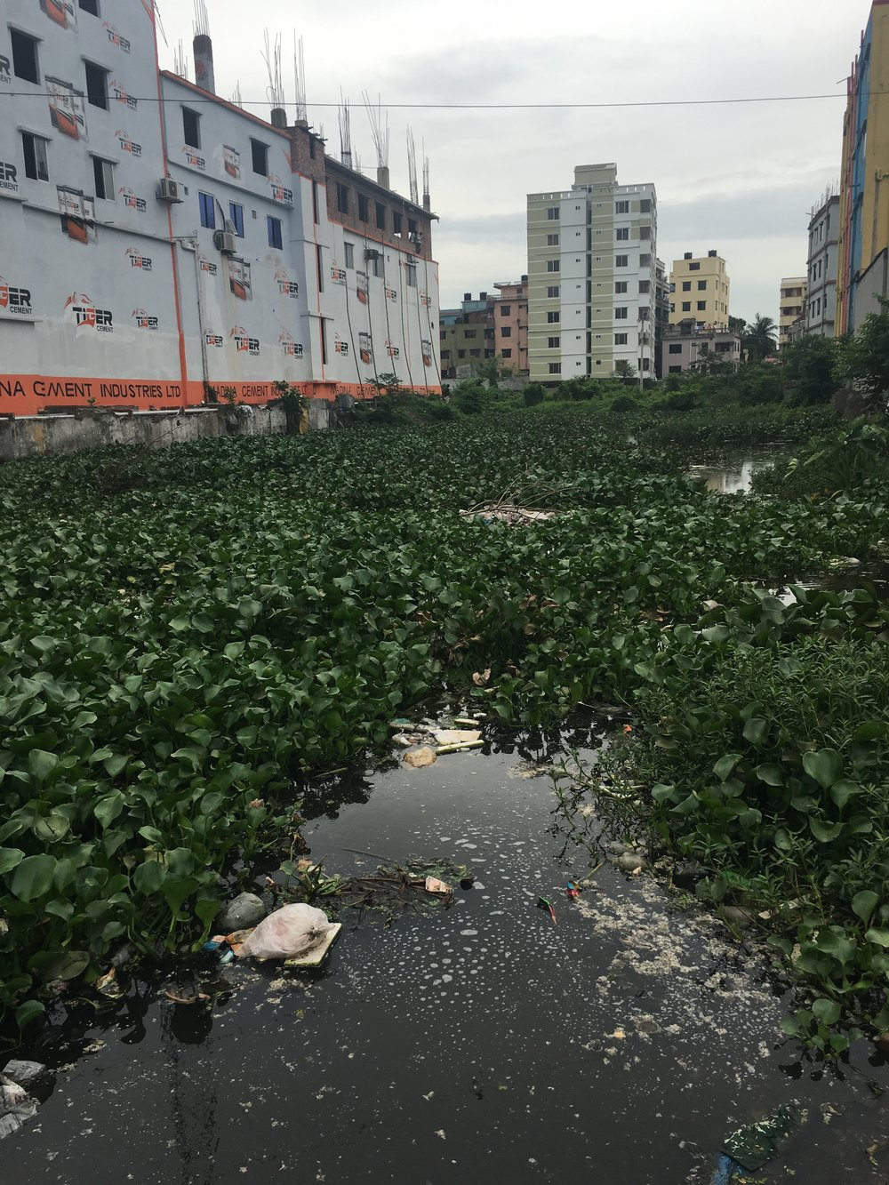 The still-vacant site of the Rana Plaza collapse, cleared of debris.
