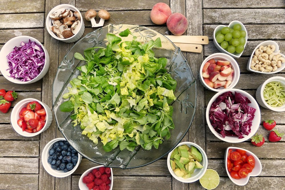 Lunch: Build-Your-Own salad bar with lots of fresh, local fruits and vegetables