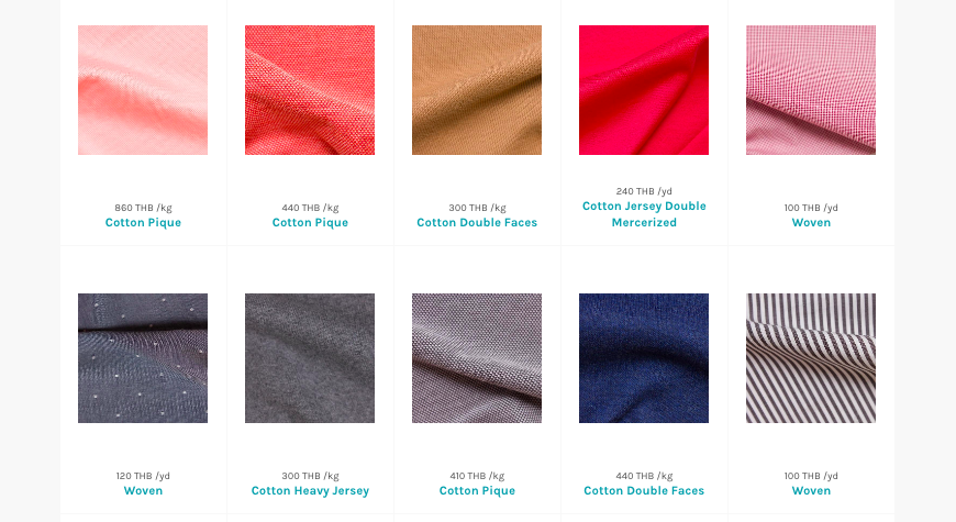 A screenshot from Moreloop's website. Deadstock textile sourcing made easy! Find what you're looking for in just a few minutes with a few clicks of your mouse.