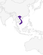 Oostelijke hellingen van het Annamitisch gebergte in Centraal Vietnam