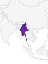 Oostelijk centraal Myanmar ( ex Birma)  Zuidelijke Shan staat tussen de Salween en de Inawaddy rivier.  Ten zuiden van het leefgebied van de L.n. Rufides
