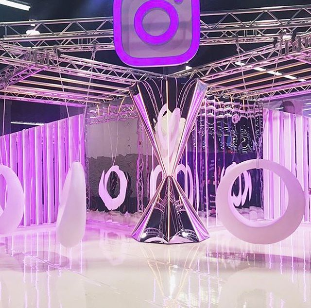 We've been busy the last few months designing this neon playground Insta-worthy booth for #instagram at #vidcon 💜 . . . . . . #vidcon2017 #vidconus #neon #purple #magenta #pink #pastel #light #lighting #lightingdesign #interactiveart #artistsoninstagram #artinstallation #mirror #swing #design #eventdesign #glam #luxe #losangeles #anaheim